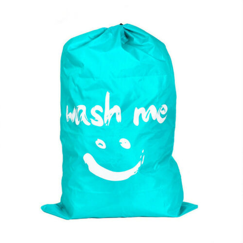 Laundry Bag Heavy Duty Travel Storage Drawstring Dorm College Dirty Clothes Bag