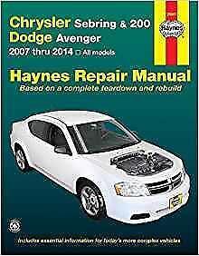 haynes chrysler sebring 07 10 touring owners repair workshop rh ebay com chrysler sebring owners manual 2007 chrysler sebring owners manual 2004
