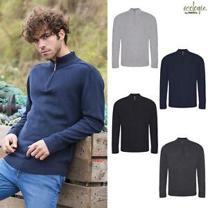 Warm Unisex Fashion Jumper Ehrlich Awdis Ecologie Wakhan 1/4 Zip Knit Sweater xs-2xl