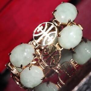 14k-yellow-gold-bracelet-Chinese-green-jade-7-0-034-vintage-handmade-9-5gr