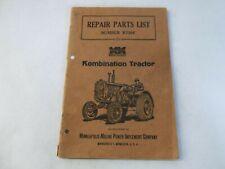 Minneapolis Moline Kombination Tractor R739f Repair Parts List