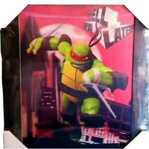 """TMNT Hologram RAPH Art Picture Teenage Mutant Ninja Turtles 3D 13""""x10""""  CMAS"""