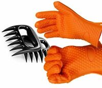 Silicone Bbq Gloves With Bear Claw Meat Shredder Perfect For Shredding Smoked on Sale