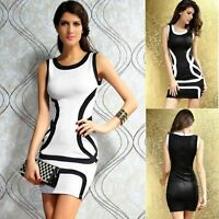 Sleeveless Casual Clubwear Sexy Mini Bodycon Formal Evening Cocktail Party Dress