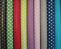 PVC Vinyl Tablecloth Oilcloth Wipeclean Spot Polka Dots 140cm Wide Polka Dots