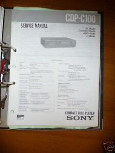 Tv, Video & Audio Service-manual Sony Cdp-c100 Cd-player,original