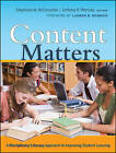 Content Matters: A Disciplinary Literacy Approach to Improving Student Learning by Stephanie M. McConachie, Anthony R. Petrosky (Paperback, 2009)