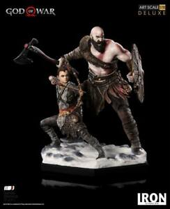 God-of-War-Deluxe-Kratos-and-Atreus-1-10-Scale-Statue-Iron-Studios