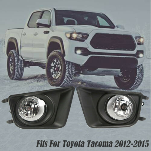 For Toyota Tacoma 2012-2015 Clear Bumper Driving Fog Lights+Switch Left + Right