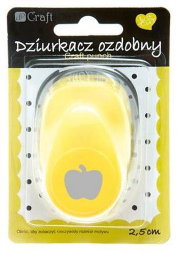 Großer Motivlocher Stanzer Punch 2,5 cm Apfel apple Kreativ Basteln Verschönerer