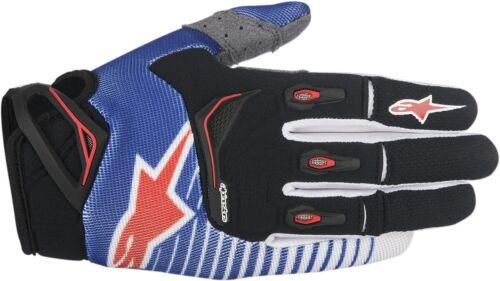 Blue//White//Red Alpinestars Techstar Motorcycle Gloves All Sizes