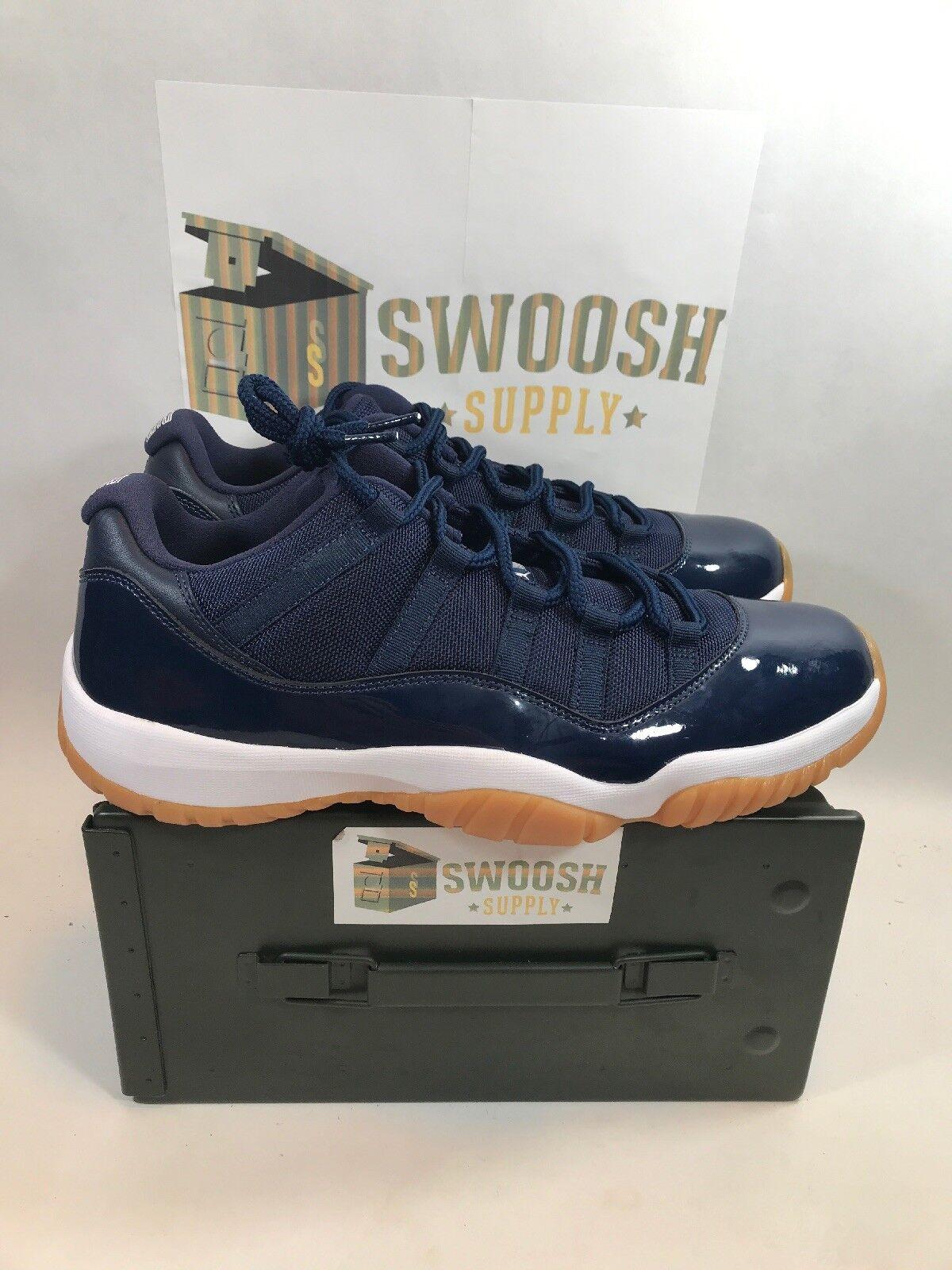 Nike Mens Air Jordan 11 Retro Low Size 13 Midnight Navy Gum 528895-405