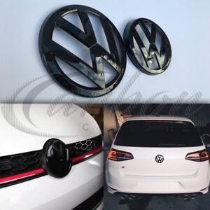 VW Golf MK7 2013-2017 Gloss Black Front & Rear Badge Emblems GTI/GOLF R/GT-TDI