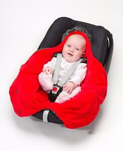 Image Is Loading Red Cocoon Car Seat Wrap With Holes For
