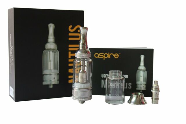 ASPIRE NAUTILUS MINI 2ML BVC or LARGE Tank 5ML with Adjustable EXTRA GLASS VAPE