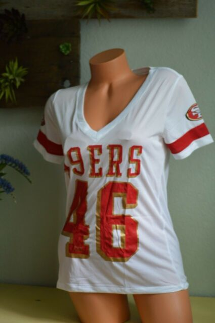 321789112 Victoria s Secret love pink t shirt top jersey san francisco 49ers med M  white