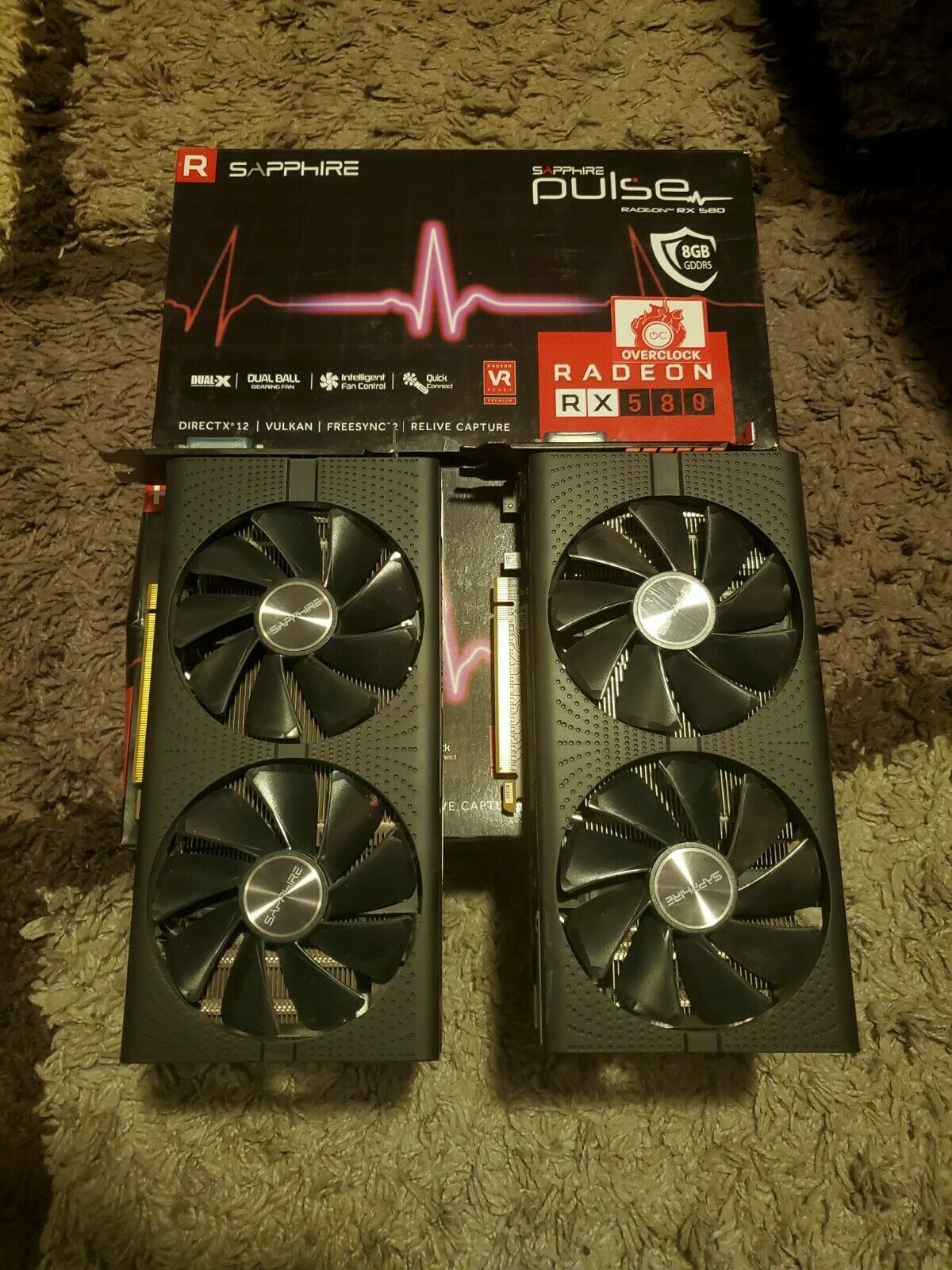 SAPPHIRE Pulse Radeon RX 580 8gb Gddr5 graphics card...