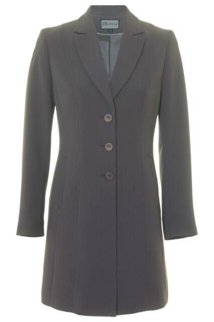 Busy Grey Long Ladies Suit Jacket