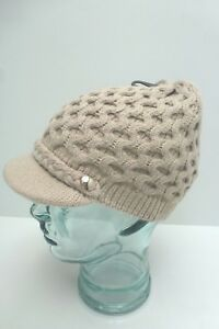 3ba723f7529 CALVIN KLEIN Woman s Winter Hat Honeycomb Cable Knit Beanie  Cream ...