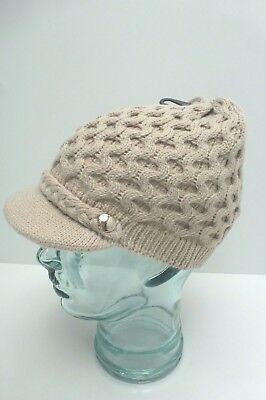 e3bda25c5a2 CALVIN KLEIN Woman s Winter Hat Honeycomb Cable Knit Beanie  Cream Almond  One Sz