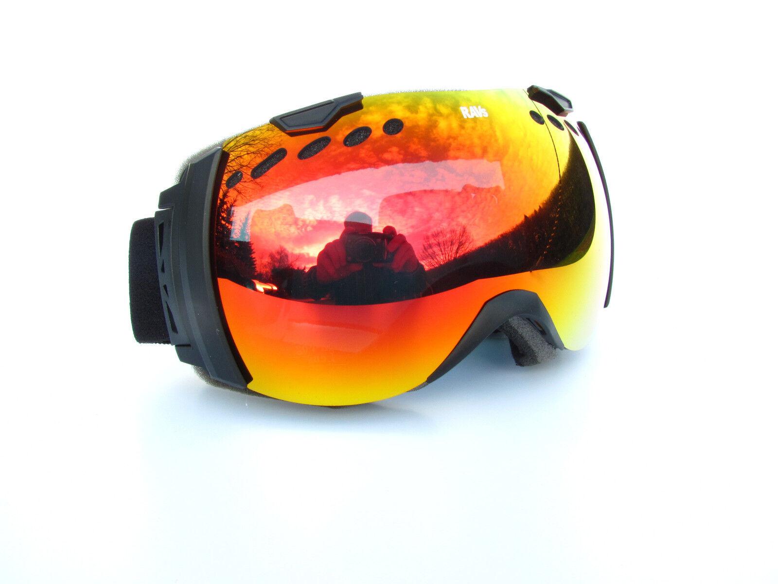 RAVS Skibrille Schutzbrille ski goggle auch für BRILLENTRÄGER (over the the the glasses) 30c1cc