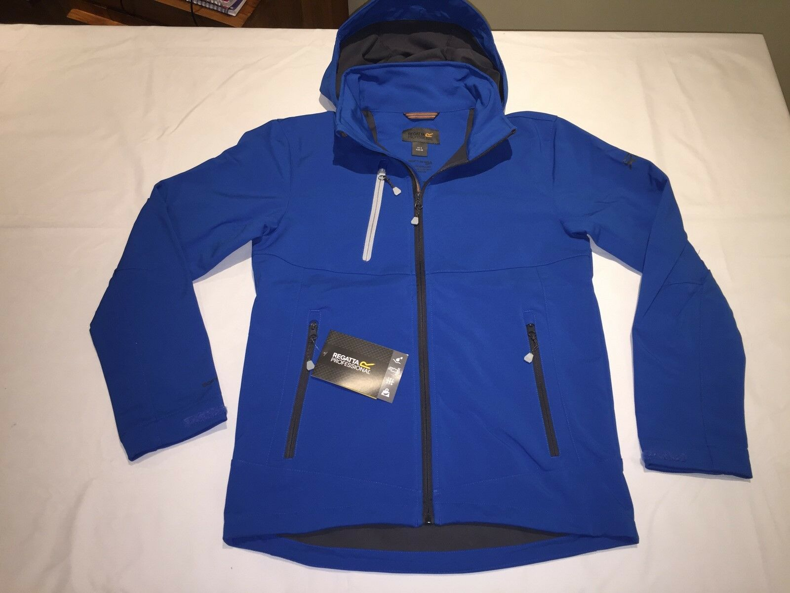 New Men's Regatta Dropzone XPRO 3 layer Soft Shell. Oxford bluee XXXL. Q25