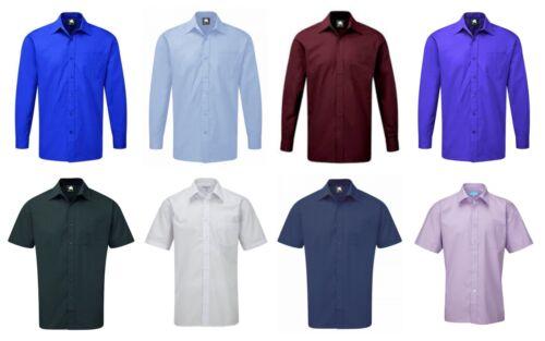 Camicia da Uomo Classico Corto /& Manica Lunga Smart Ufficio Formale Business Bar Plain