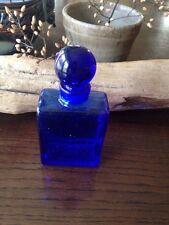 A Vintage Modernist cobalt Blue Perfume Bottle/glass Stopper,new