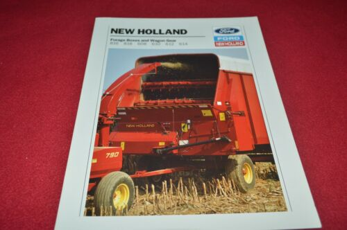 New Holland 816 818 608 610 612 614 Forage Wagon Box Dealer/'s Brochure YABE18