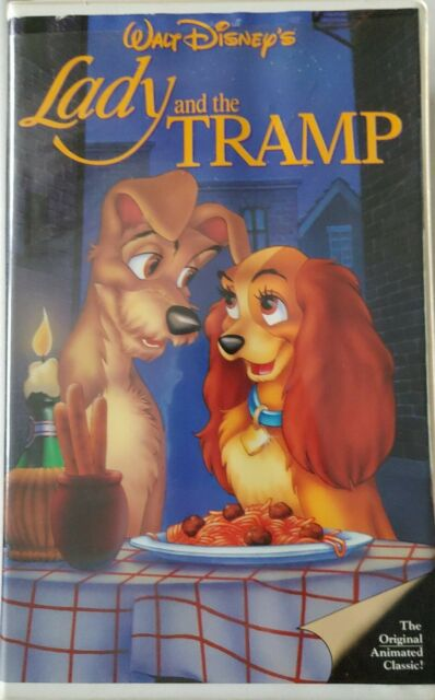 Lady And The Tramp 1987 Vhs Disney Classic Black Diamond 1st Release For Sale Online Ebay