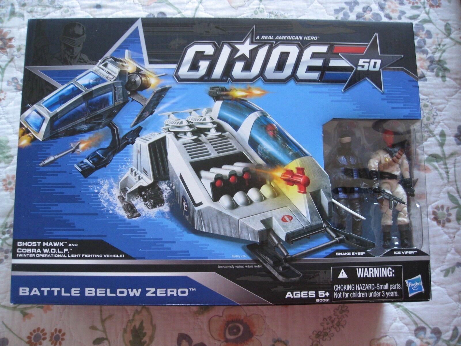 G.I. Joe 50TH Aniversario Batalla por debajo de cero fantasma Hawk & Cobra w.o.l.f.