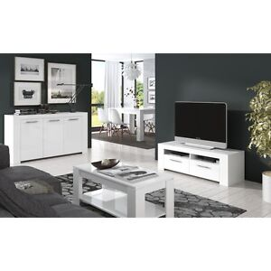 Ansel Living Room Furniture Set TV Unit Sideboard Coffee Table ...
