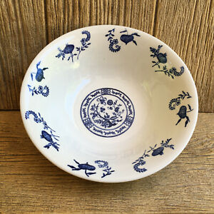 Vintage Blue Onion Serving Bowl Dinnerware Vintage Dishes USA China Pottery