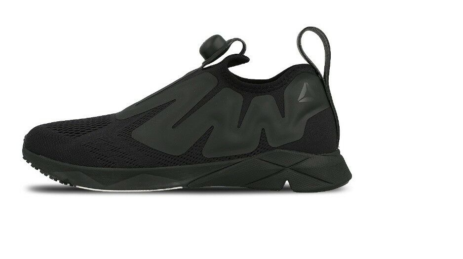 Reebok black men's shoes cn2189 supream pump
