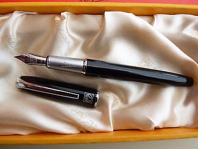 Stylo Plume Jinhao 159 Noir et Argent M Nib ÉPais pour Cadeaux DéCoration Q4V 1X