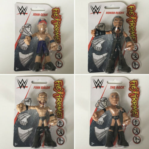 WWE MATTEL Mini Flextreme lucha libre figura-Rock cena Romano reina Balor