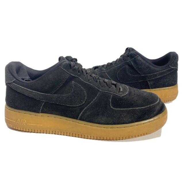 air force 1 black suede gum sole