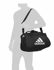 f34a52dd29 Details about NWT ADIDAS DIABLO SMALL DUFFEL Gym Bag For Women/Men/Big Boy  Classic Black/White
