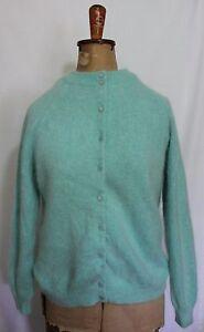 VINTAGE-1960S-SENTEX-Mint-Green-Fluffy-Angora-Lambswool-Rockabilly-Cardigan-14
