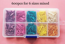 600pcs Mixed Dental Interdental Composite Contoured Wood Wooden Wedges Matrices