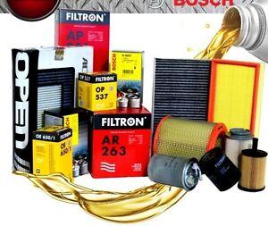 kit tagliando 5 l olio ford 5w30 filtri 4pz ford fusion. Black Bedroom Furniture Sets. Home Design Ideas