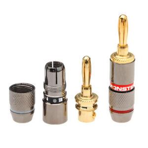 8-x-Monster-Banana-Plug-Speaker-Adapter-24K-Gold-Plated-Connector-Zinc-Alloy