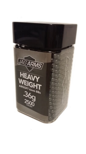 JAGArms AIRSOFT .36 precision heavy weight sniper bb/'s new 2500ct reseal bottle