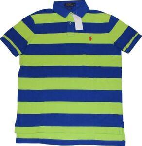 detailed look 92fc1 b4e61 Ralph Lauren Ringel-Poloshirt royalblau-grün Gr.M NEUW | eBay