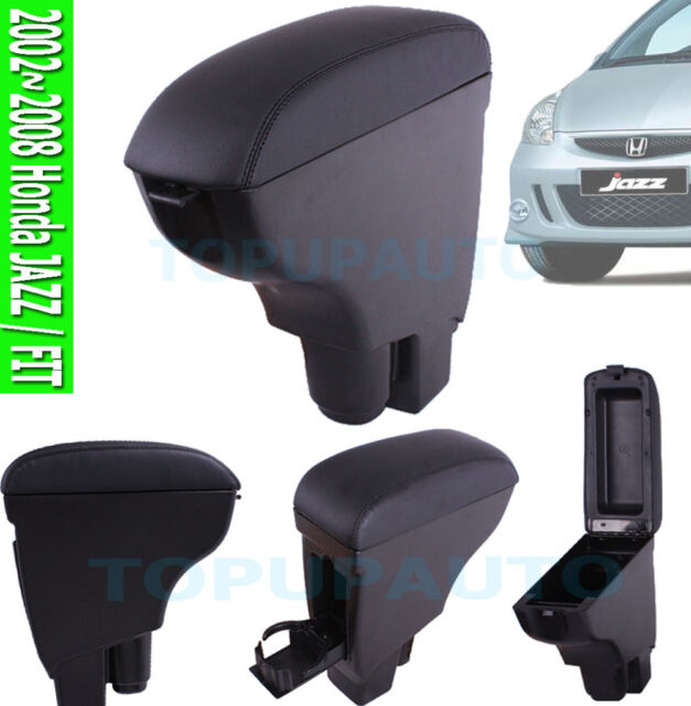 FIT FOR 02~2008 HONDA FIT / JAZZ  LEATHER ARMREST CENTRE CONSOLE STORAGE BOX GD3
