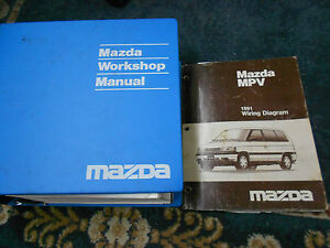 1991 Mazda MPV VAN Service Shop Repair Manual SET 91 ...