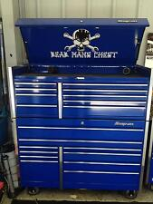 Skull and Cross Wrenches Dead Mans Chest topbox decal Snap on tool box cart krl
