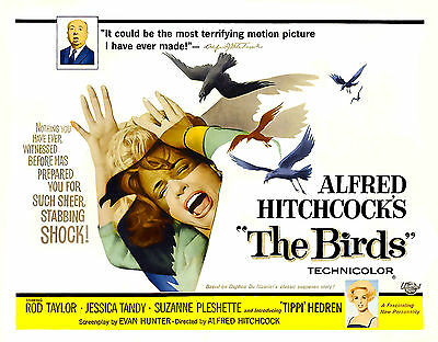 """THE BIRDS""..Alfred Hitchcocks.. Classic Movie Poster A1 A2 A3 A4Sizes"