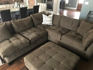 Image Is Loading Rooms To Go Chocolate Two Piece Sectional Sofa
