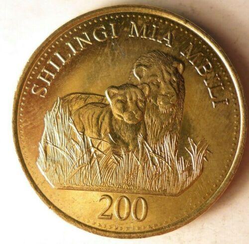 Lions BARGAIN BIN #200 Excellent 2014 TANZANIA 200 SHILLINGS FREE SHIP